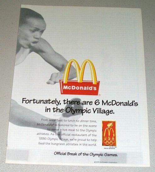 1995 McDonalds Fast Food Restaurant Color Print Ad