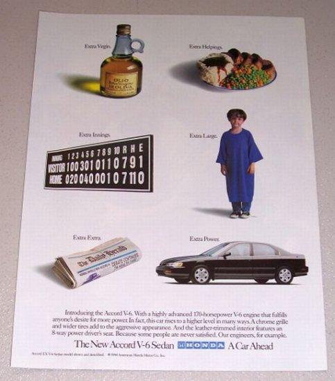 1995 Honda Accord Sedan Automobile Color Print Car Ad