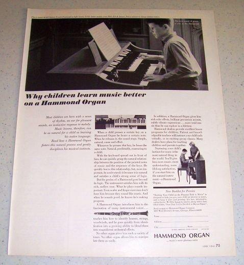 1964 Hammond Spinet Organ Model M-103 Ad