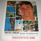 1964 Chesterfield King Tobacco Cigarettes Color Ad
