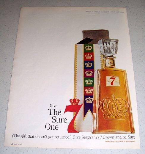 1964 Seagram's Seven 7 Crown Whiskey Color Liquor Ad