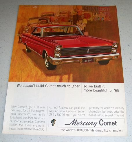 1964 Color Ad for 1965 Mercury Comet Automobile