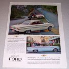 1963 Ford Falcon Fairlane Sport Coupe Automobiles Color Car Ad