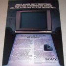 1985 Sony 27in Trinitron Microblack Television Color Tv Ad