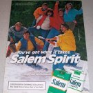 1985 Salem Cigarettes Winter Baseball Color Tobacco Ad