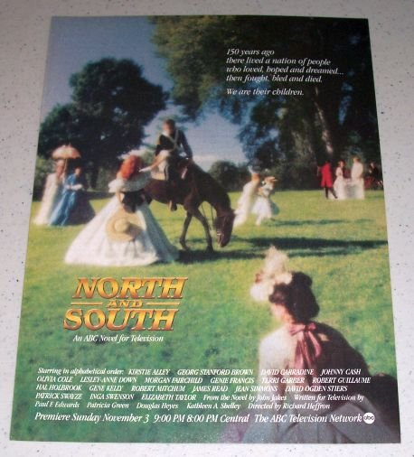 1985 ABC Television Novel NORTH and SOUTH Color Ad