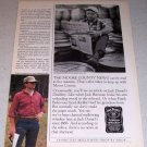 1985 Jack Daniels Whiskey Vintage Ad Moore County News