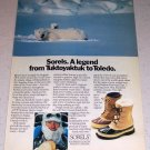 1985 Sorels Winter Boots Footwear Color Ad