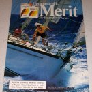 1986 Merit Cigarettes Boat Sailing Themed Color Ad