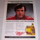 1986 Miller Beer Color Brewery Ad Indy Racing Celebrity Danny Sullivan