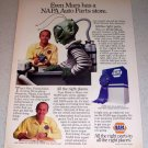 1986 NAPA Auto Parts Mars Alien Themed Color Ad
