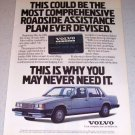 1986 Volvo Automobile Color Car Ad