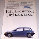 1985 Honda Civic Hatchback Automobile Color Car Ad