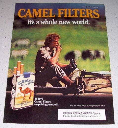 1985 Camel Cigarettes Safari Themed Color Tobacco Ad