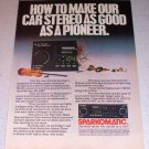 1986 Sparkomatic SR-315 Car Stereo Color Ad