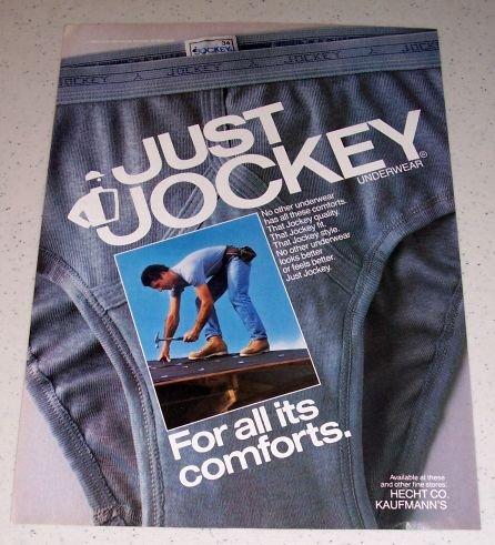 1986 Jockey Underwear Color Ad