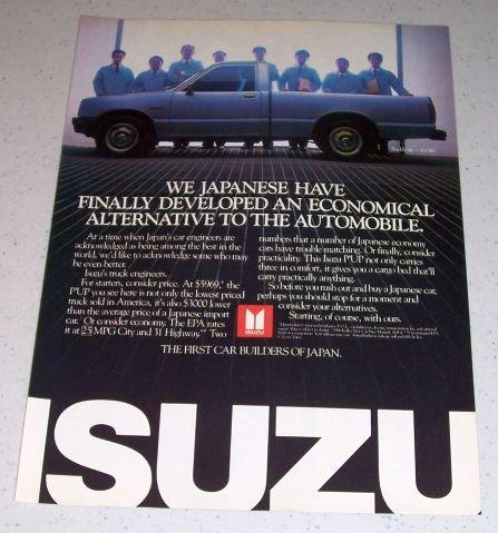 1986 Isuzu P'UP Pickup Truck Color Ad