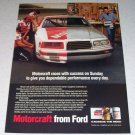 1986 Motorcraft from Ford Color Ad