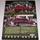 1986 Chevrolet Chevy Astro Van Color Ad