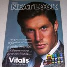 1986 Vitalis Hair Care Products Color Ad