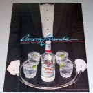 1986 Double Springs Country Club Vodka Color Liquor Ad