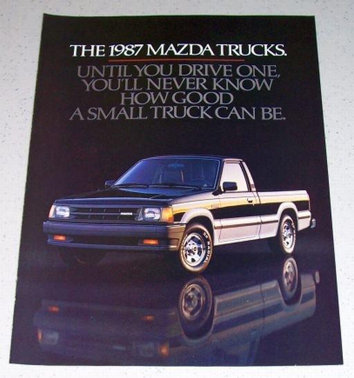 1986 Color 4 Page Ad for 1987 Mazda SE-5 Pickup Truck