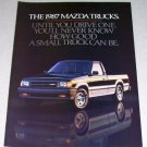 1986 Color 4 Page Ad for 1987 Mazda SE-5 Pickup Truck