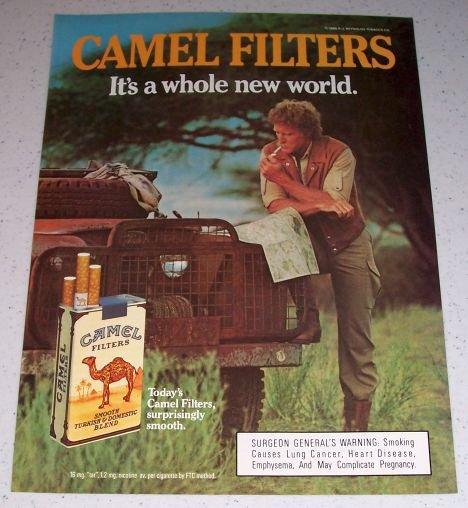 1985 Camel Filters Cigarettes Land Rover Color Tobacco Ad
