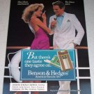 1986 Benson Hedges 100's Lights Cigarettes Color Tobacco Ad