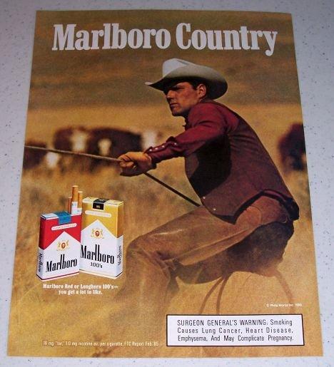 1986 Marlboro Cigarettes Color Tobacco Ad