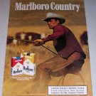 1986 Marlboro Cigarettes Color Tobacco Ad