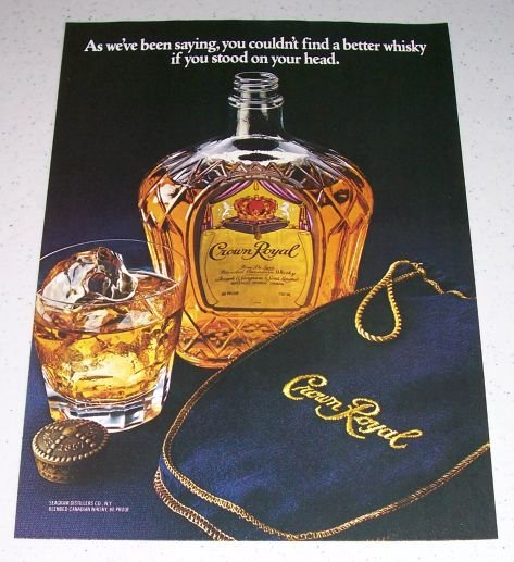 1986 Crown Royal Canadian Whiskey Color Liquor Ad