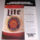 1985 Miller Lite Beer Color Brewery Ad