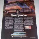 1986 Dodge Ram Wagon Color Van Ad