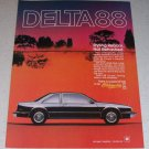 1986 Oldsmobile Delta 88 Coupe Automobile Color Car Ad