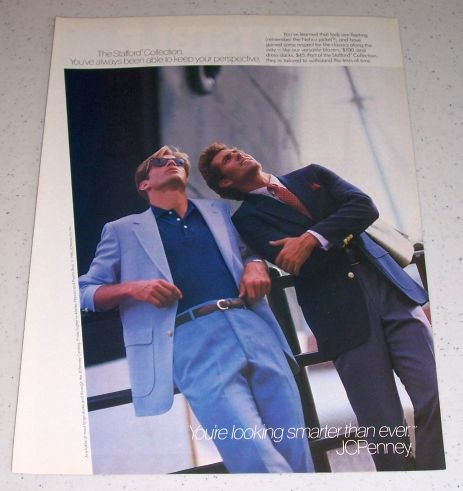 1986 JC Penny The Stafford Collection Color Clothing Ad