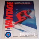 1986 Vantage Cigarettes Snow Skiing Color Tobacco Ad