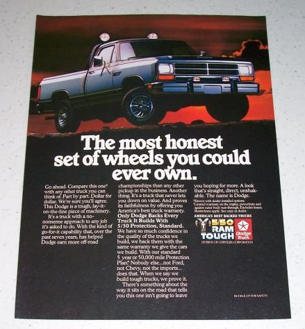 1986 Dodge Power Ram Truck Color Ad