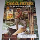 1985 Camel Lights Cigarettes River Boating Color Tobacco Ad