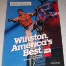1986 Winston Cigarettes Helicopter Rescue Color Tobacco Ad