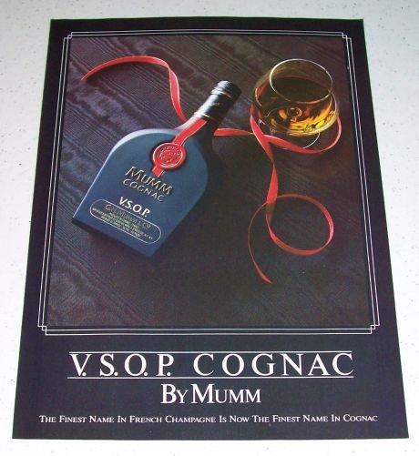 1986 Mumm Cognac VSOP Color Liquor Ad