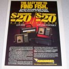 1986 Humminbird LCR2000 Depth Sounder Finder Color Ad