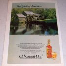1986 Old Grand Dad Bourbon Whiskey Color Liquor Ad Mabry Mill Virginia
