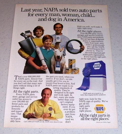 1986 NAPA Auto Parts Color Ad