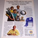 1986 NAPA Auto Parts Color Ad
