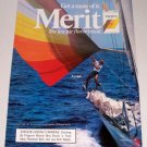 1986 Merit Cigarettes Sail Boating Color Tobacco Ad