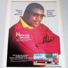 1986 Foster Grants Sunglasses Color Ad NFL Football Player Herschel Walker