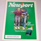 1986 Newport Cigarettes Soccer Color Tobacco Ad