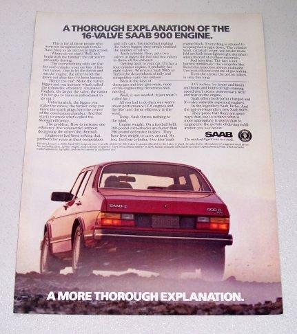 1986 SAAB 900 S Automobile Color Car Ad
