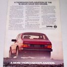 1986 SAAB 900 S Automobile Color Car Ad